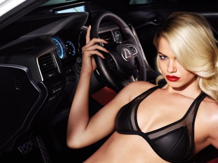 Hailey Clauson Serves Blonde Bombshell in New Lexus Campaign