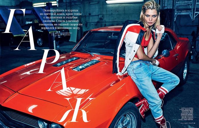 Hana Jirickova stars in Vogue Russia's March issue
