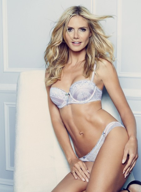 Heidi Klum Strips Down for Her Spring Intimates Campaign