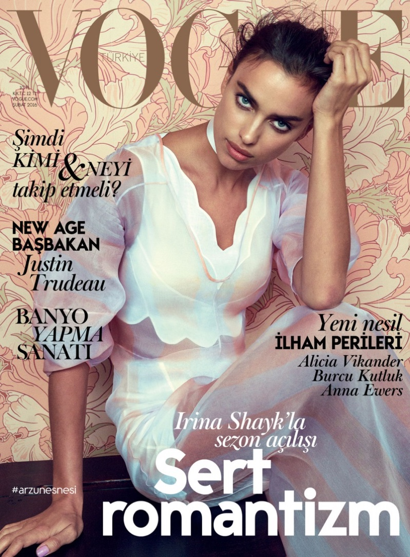 Irina Shayk Stuns in Dreamy Dresses for Vogue Turkey