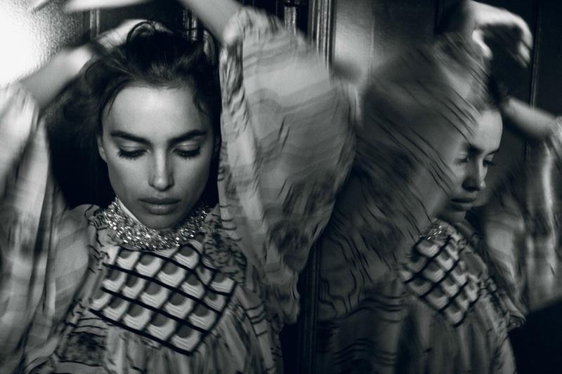 Irina Shayk Stuns in Dreamy Dresses for Vogue Turkey