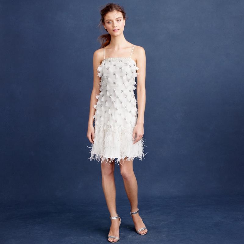 J. Crew Feather Flapper Wedding Dress $900 (was $1,200)
