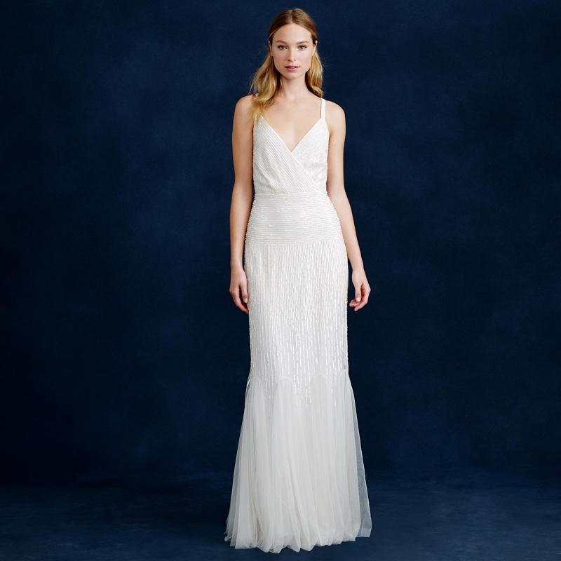 J. Crew Harper Beaded Wedding Dress $825 (was $1,100)