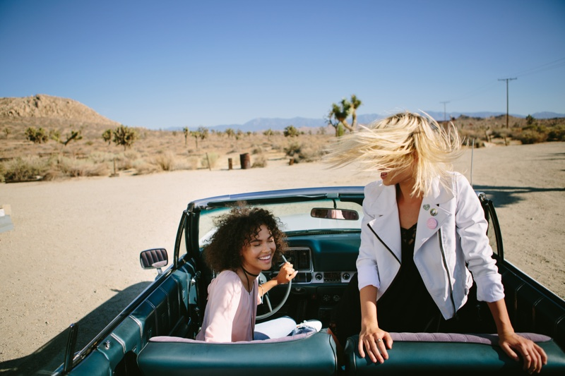 The models take a road trip in spring looks