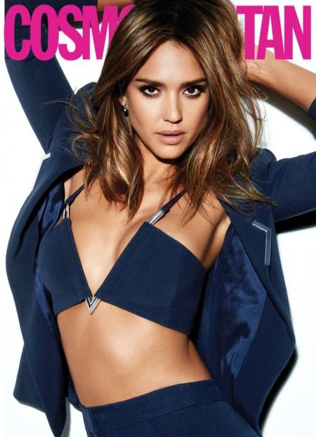 Jessica Alba Dresses Like a Boss for Cosmopolitan Magazine