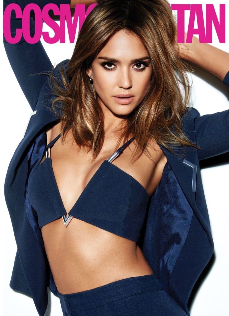 Jessica Alba Dresses Like a Boss for Cosmopolitan Magazine