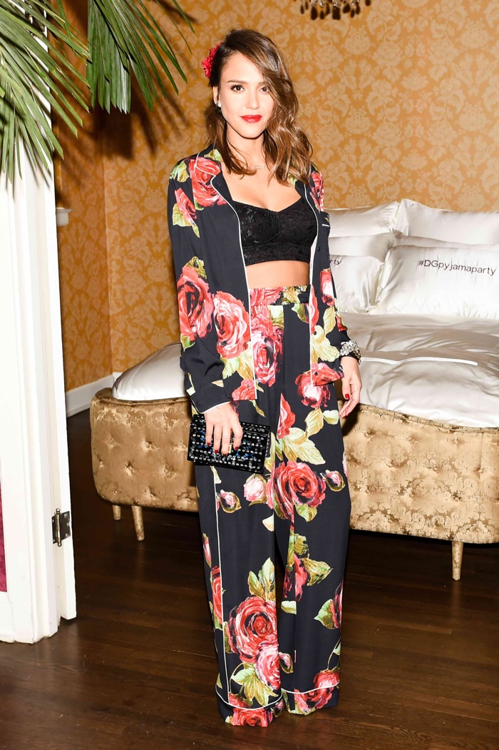 Jessica Alba at Dolce & Gabbana's Pajama Party. Photo: BFA for Dolce & Gabbana