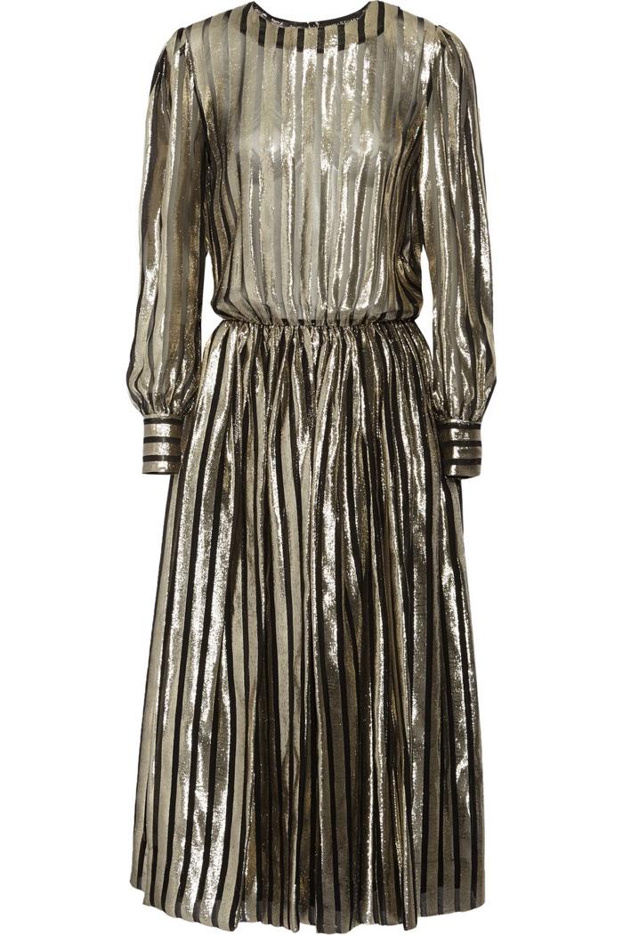 Jill Stuart Bambi Metallic Maxi Dress