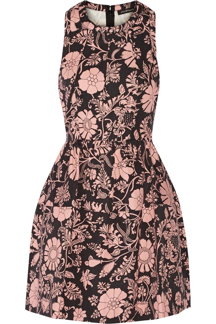 Jill Stuart Floral Print Mini Dress
