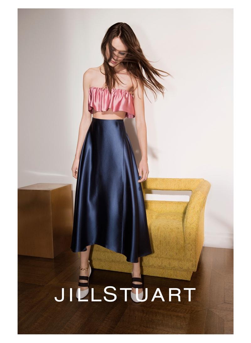 Romy Schonberger stars in Jill Stuart's spring-summer 2016 campaign