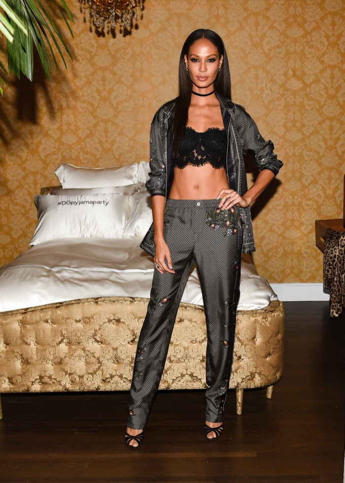 Joan Smalls at Dolce & Gabbana's Pajama Party. Photo: BFA for Dolce & Gabbana