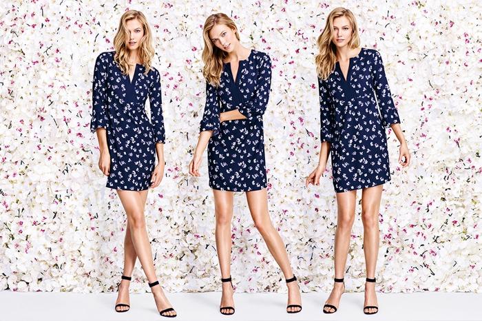 Karlie Kloss Embraces the Floral Trend for Joe Fresh's Spring Ads