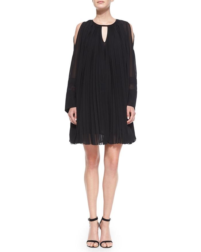 Just Cavalli Pleated Oversized Shift Dress