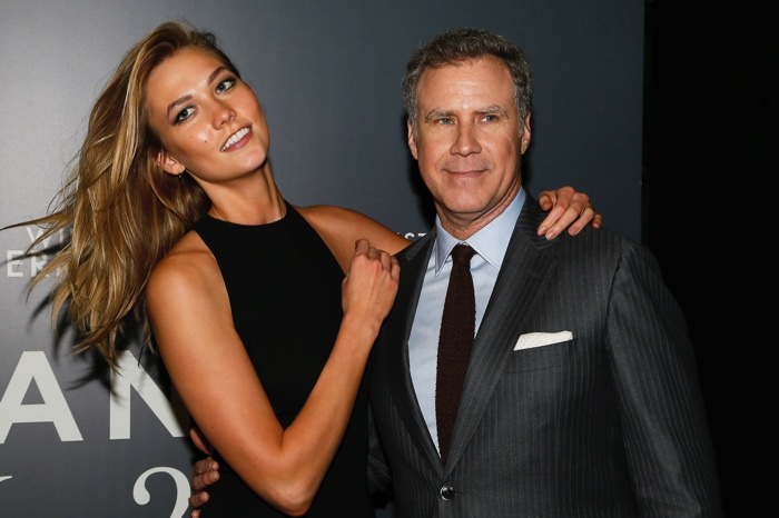 Karlie Kloss and Will Ferrell the Madrid, Spain, premiere of Zoolander 2. Photo: Carlos Alvarez/Getty Images for Paramount