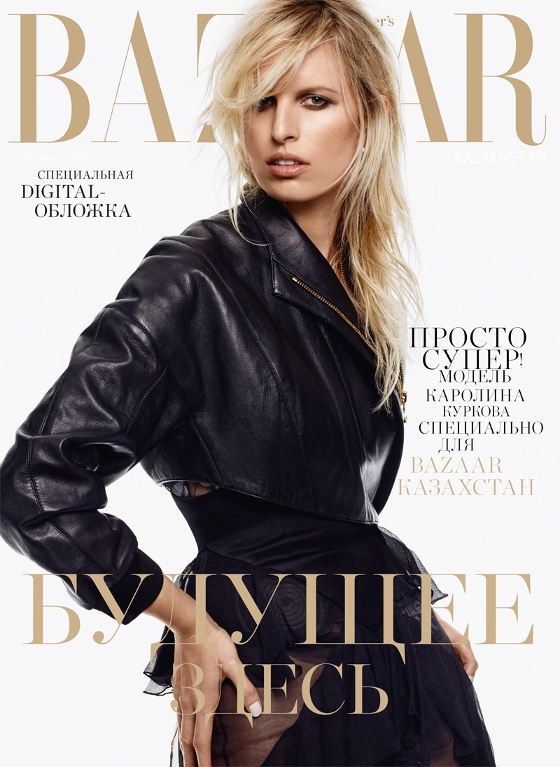 Karolina Kurkova Is Military Chic For BAZAAR Kazakhstan By Jason Kim