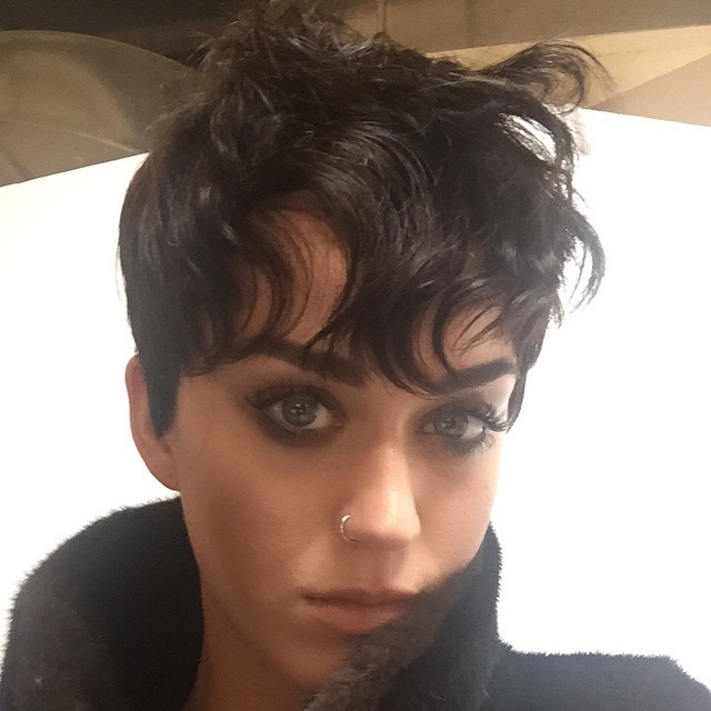 In 2015, Katy Perry shared an image of a short pixie haircut on Instagram. The short hair was for her appearance in Moschino's fall 2015 campaign.