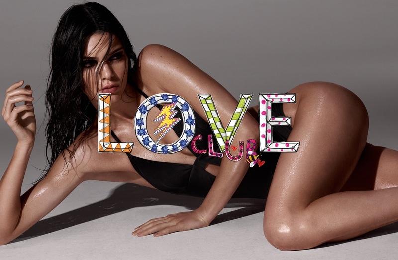 Kendall Jenner Wears Calvin Klein Swim for LOVE Magazine