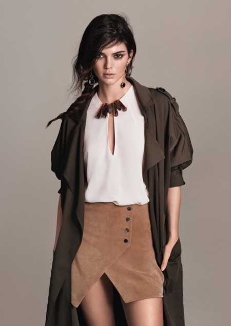 Kendall Jenner looks tribal chic in Mango's February 2016 campaign