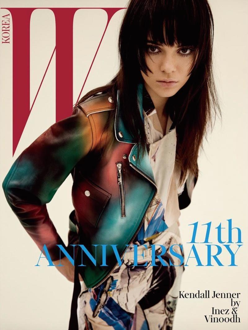 Kendall Jenner Works the Moto Jacket in W Korea Spread
