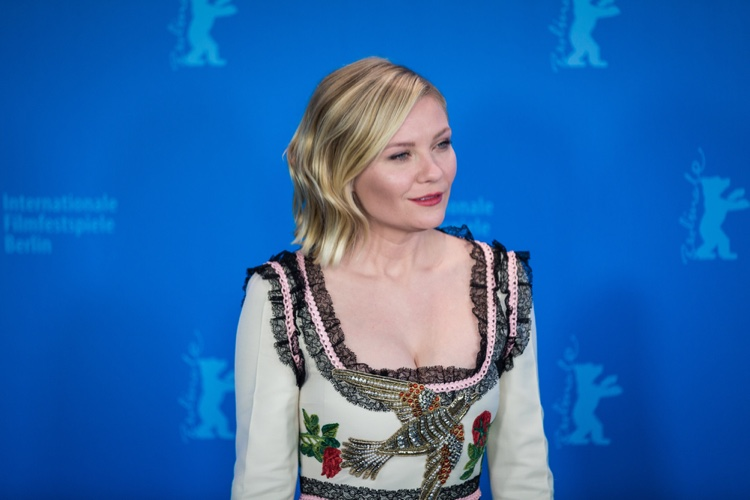 FEBRUARY 2016: Kirsten Dunst attends the 66th Annual Berlin Film Festival wearing a Gucci dress. Photo: taniavolobueva / Shutterstock.com