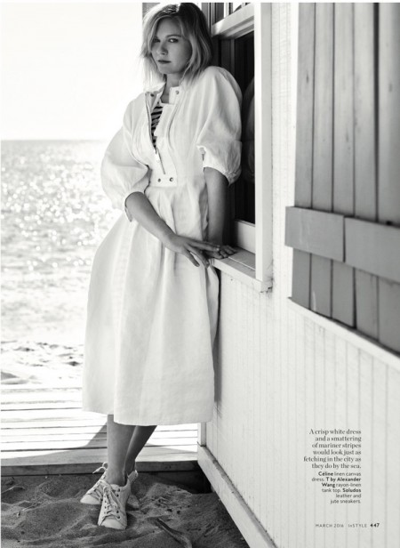 Kirsten Dunst Sports the Minimal Trend for InStyle Magazine