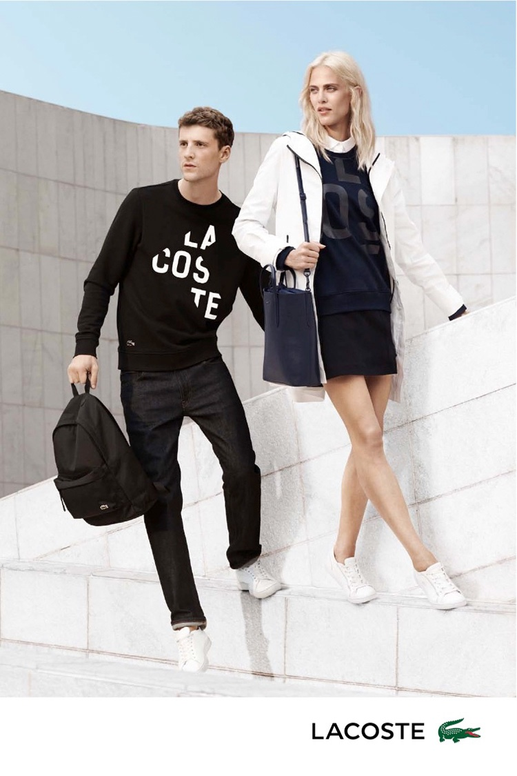 Aymeline and George make a good looking pair in Lacoste's spring 2016 campaign