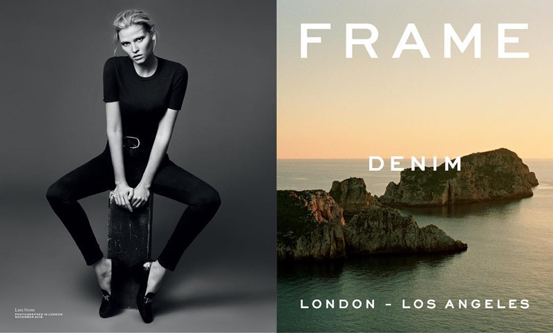Lara Stone Keeps It Casual in Frame Denim's Spring Ads