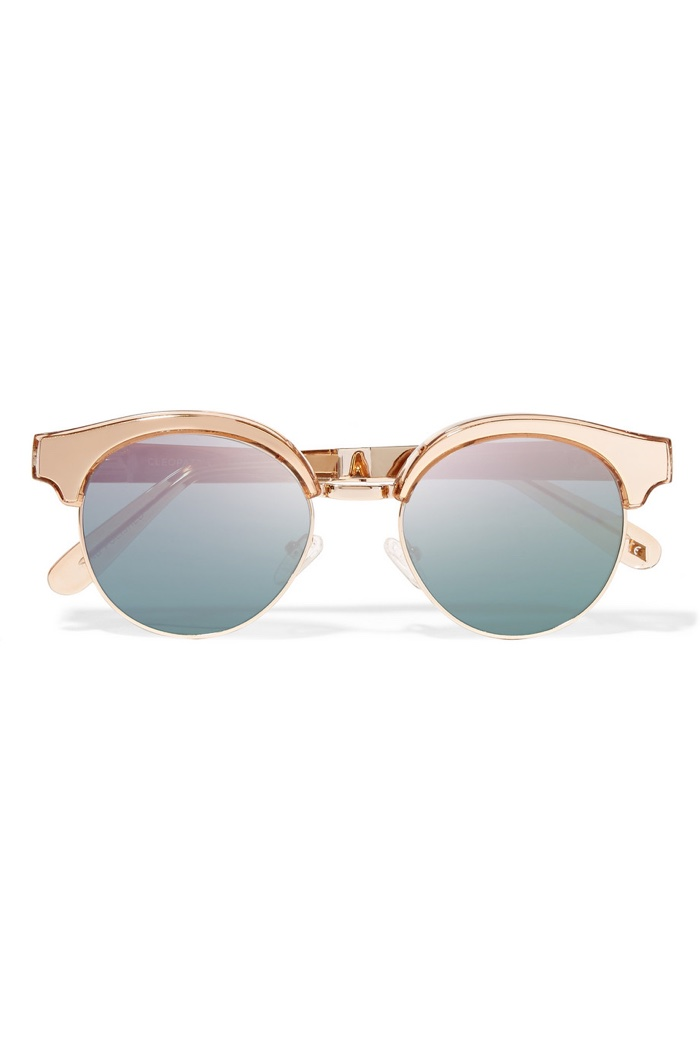 Le Specs Luxe Cleopatra Cat Eye Mirrored Sunglasses