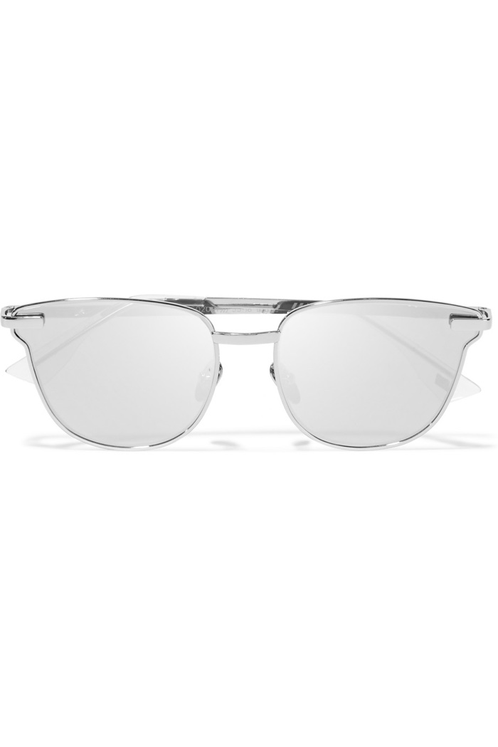 Le Specs Luxe Pharaoh Cat Eye Mirrored Sunglasses