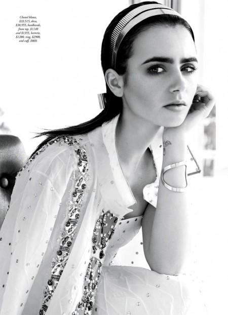 Lily Collins Poses in Her Most Elegant Shoot Yet for BAZAAR Australia
