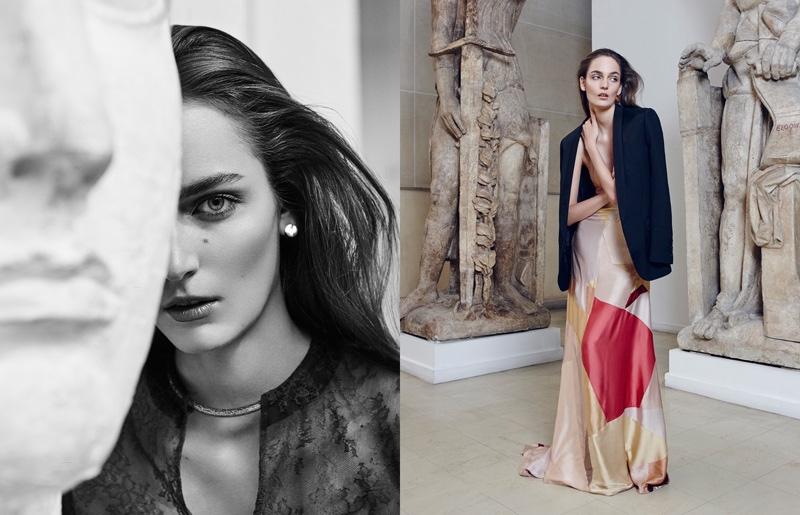 Zuzanna Bijoch Wears Lingerie as Outerwear for Vogue Paris Travel by Nagi Sakai