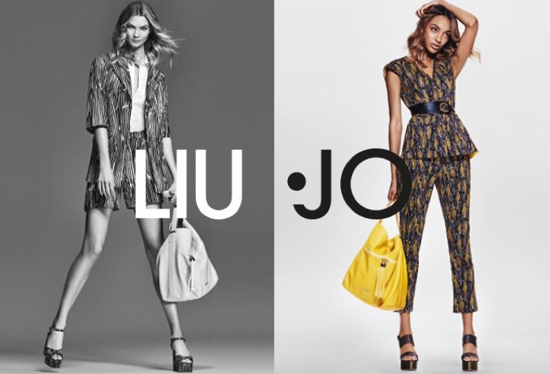 Karlie Kloss and Jourdan Dunn front Liu Jo's spring 2016 advertisements