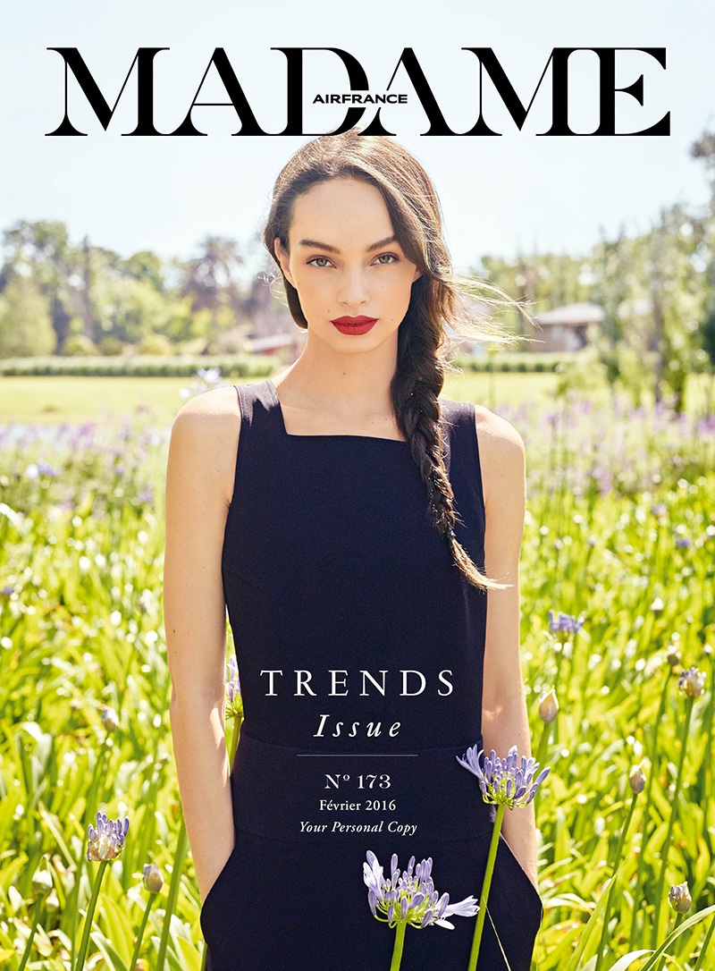 Luma Grothe Models Breezy Spring Fashion in Air France Madame