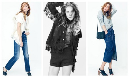 Erin Wasson models Madewell x Daryl K clothing collaboration