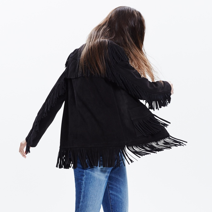 Madewell x Daryl K Reseda Black Suede Fringe Jacket