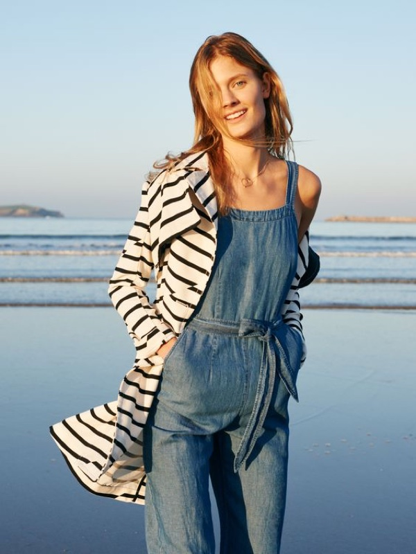 Madewell Chambray Muralist Jumpsuit and Parcel Trench Coat