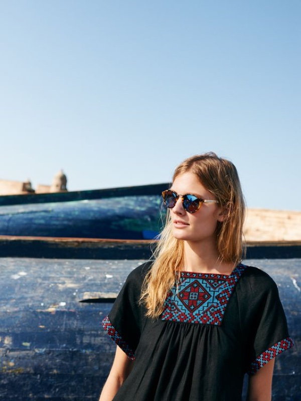 Madewell Embroidered Wander Dress and Indio Sunglasses
