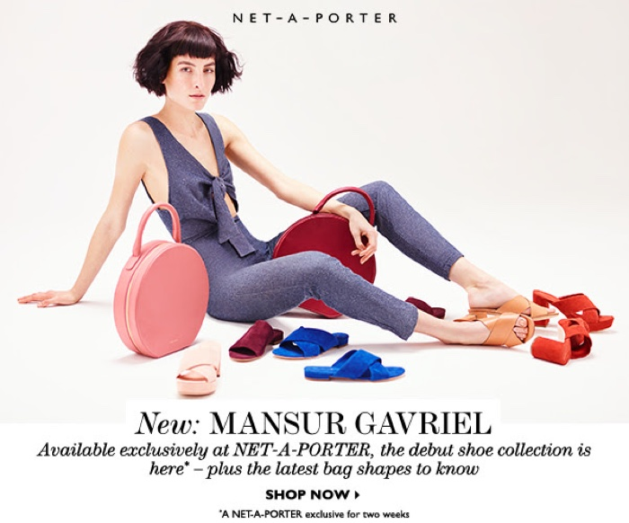 Mansur Gavriel's debut shoe collection is exclusively available at Net-a-Porter