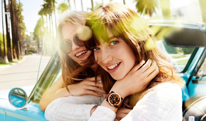 Grace Hartzel and Aneta Pajak star in Michael Michael Kors's spring-summer 2016 campaign