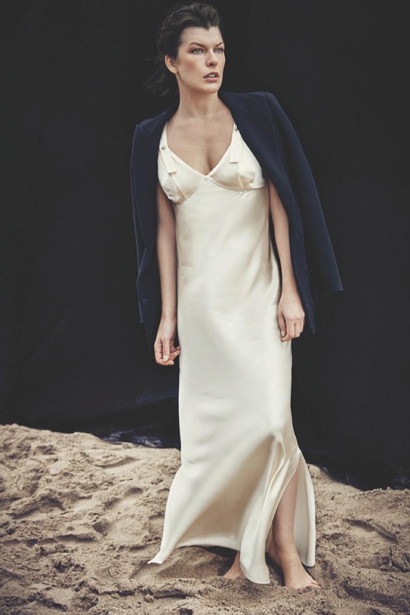 Milla Jovovich Wears Beach Style for BAZAAR Spain by Francesco Carrozzini