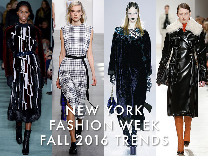 New York Fashion Week Fall 2016 Trends Plaid Velvet More