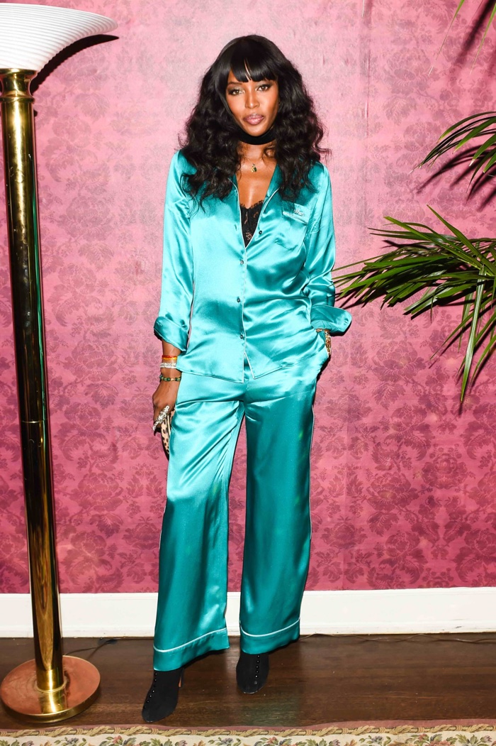 Naomi Campbell at Dolce & Gabbana's Pajama Party. Photo: BFA for Dolce & Gabbana