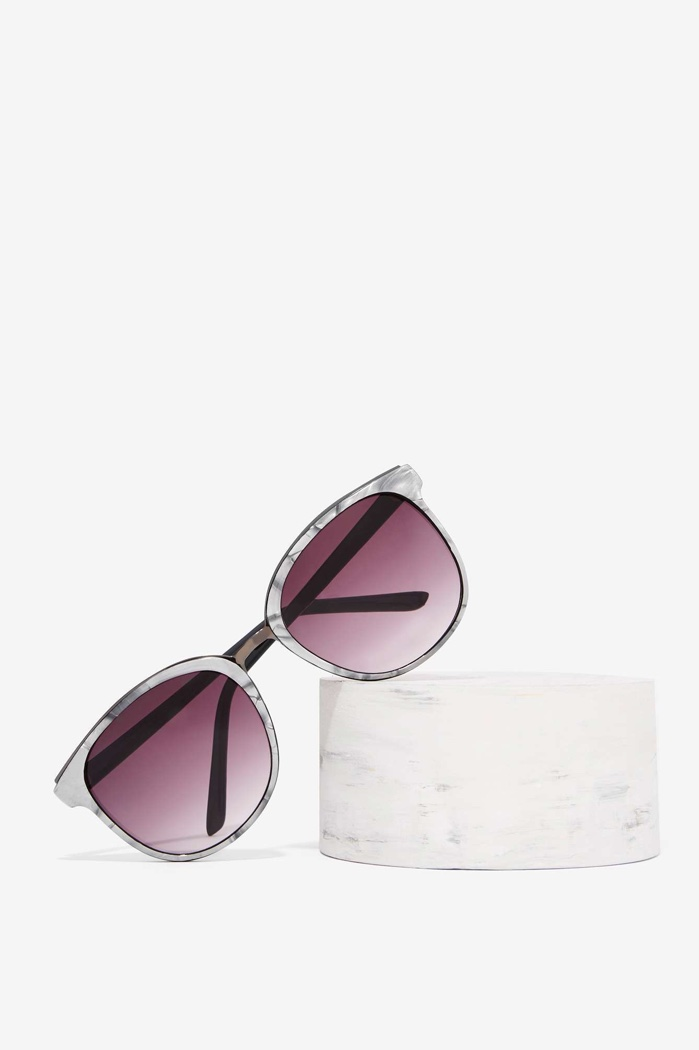 Nasty Gal Cass Marble Sunglasses $20.00