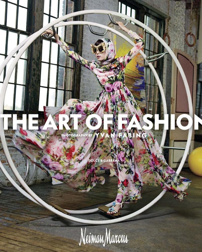 Dolce & Gabbana Floral Print Silk Chiffon Gown
