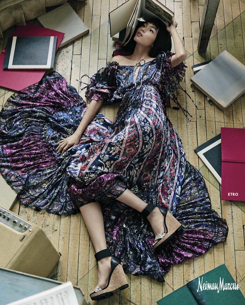 Etro Multi-Colored Silk Gown