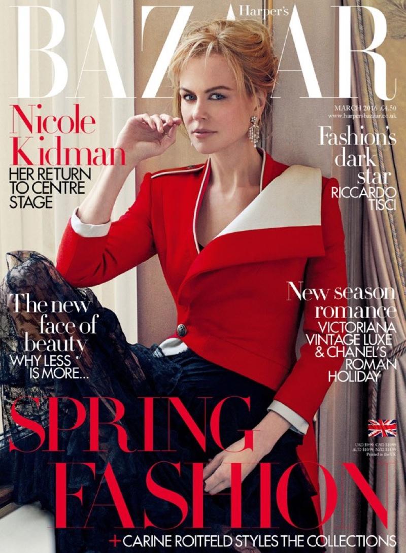Nicole Kidman on Harper's Bazaar UK March 2016 cover