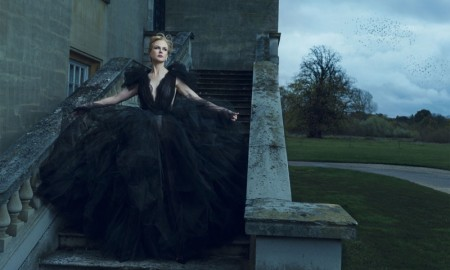 Nicole Kidman wears a Marchesa gown in this dramatic shot
