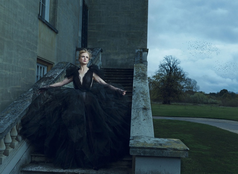 Nicole Kidman is An Elegant Vision for BAZAAR UK