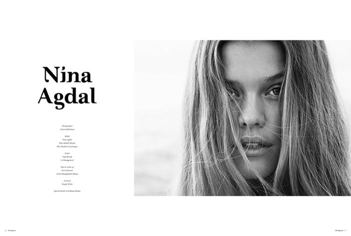 Nina Agdal poses for My Magazine