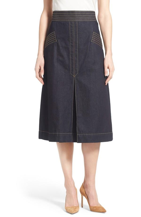 Olivia Palermo + Chelsea28 Retro Denim Skirt